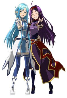 ALO Asuna e Yuki by DennisStelly.deviantart.com on @DeviantArt