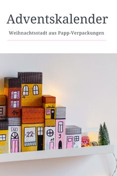 DIY Adventskalender: Häuserzeile aus Verpackungen Cool Diy, Holidays, Jewelry Making, Advent Season, Craft Tutorials, Diy Presents, Packaging, Vacations, Holidays Events