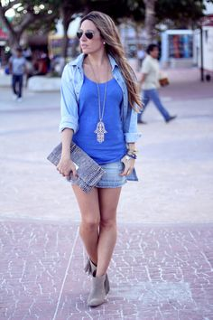 sunglasses, necklace, and clutch are a must!