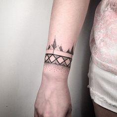 Inked Bracelet - http://www.tattooideas1.org/placement/wrist/inked-bracelet/
