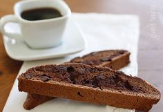 Chocolate Chocolate Chip Biscotti - Biscotti is the perfect grown up cookie.