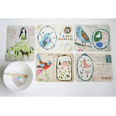 a combination of two of my favourites - illustrations & postcards... love love!    by LilyMoon