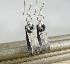 Industrial Earrings Silver Dangle Earrings Sterling Silver