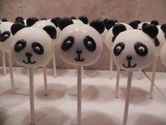 Panda Bear Cake Pops by Gypsysweetart on Etsy, $25.00