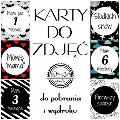 Karty do zdjęć, do pobrania i wydruku - oliloli-newlife Free Prints, Mommy And Me, Kids And Parenting, Baby Photos, Baby Blue, Baby Room, Cardmaking, Diy And Crafts, Pregnancy