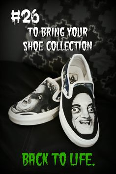 Reason #26 to buy custom to order, hand painted 1 of Two shoes. #youngfrankenstein #vans #fanart