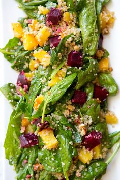SPINACH, BEET AND QUINOA SALAD - a house in the hills - interiors, style, food, and dogs