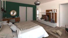 dormitor-matrimonial Decor, Interior Design, Furniture, Bed, Home, Interior, Studio, Home Decor