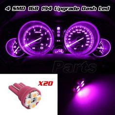20x Pink Purple Gauge Instrument Cluster Speedometer Dash 4-SMD LED Light Bulbs in eBay Motors | eBay