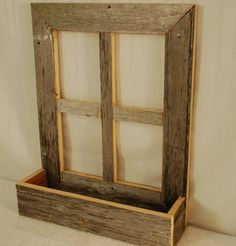 Old Window Projects, Barn Wood Projects, Woodworking Projects Diy, Old Barn Wood, Rustic Wood, Rustic Barn, Barnwood Ideas, Wooden Bread Box, Into The Woods
