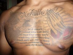 Psalm 27 Tattoos for Men | Chest Complete