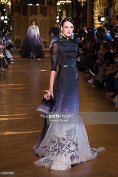 A model walks the runway during the Heaven Gaia show as part of the Paris Fashion Week Womenswear Spring/Summer 2017 on October 5, 2016 in Paris, France.