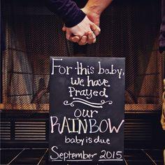 Rainbow baby announcement