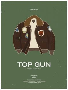 Endorsement of the Day: Each of the posters in this darkly funny and understated series features a single outfit from an iconic movie, from Tom Cruise's Top Gun jacket to Michael Douglas's. Film Top Gun, Top Gun Movie, Tom Cruise, Love Movie, Movie Tv, Wanted Movie, Movie Theater, Theatre, Poster Minimalista