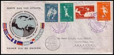Netherland Antilles - 8th Central American & Caribbean Football Championships 1957 by footysphere, via Flickr #Vintage #Print #Football