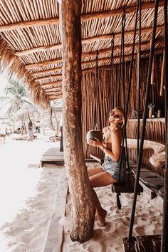 An Instagram Guide To Tulum - Fashion Mumblr Beach Cafe, Beach Town, Beach Camping, Camping Life, Coco Tulum, Small Restaurant Design, Fashion Mumblr, Island Design, Travel And Leisure