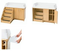 Changing Table With Locking Stairs Ael7550