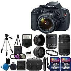 Canon EOS Rebel T5 Digital SLR + canon EF-S 18-55mm f/3.5-5.6 IS & EF…