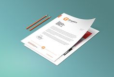 Here's a free PSD file of corporate letterhead and portfolio mockup on paper. Letterhead Paper, Letterhead Template, Mockup Templates, Themes For Mobile, Professional Letterhead, Graphic Design Projects, Free Graphics, Branding Design, Hotel Branding