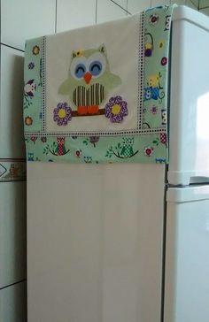 top of fridge covers idea