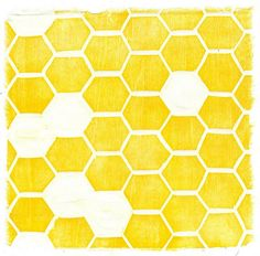 Yellow beehive pattern