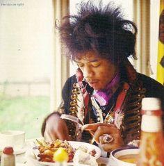 jimi hendrix at breakfast