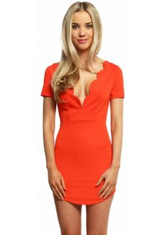This colouring popping Ginger Fizz Don't Look Back dress will be perfect for catching attention! More party dresses available online. Ginger Fizz, Designer Party Dresses, Dont Look Back, Sexy Party Dress, Plunging Neckline, Dress Backs, Up Hairstyles, Burnt Orange, Glamour