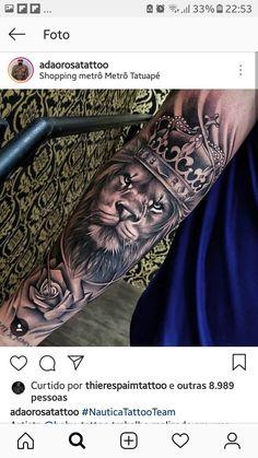 Half Sleeve Tattoos Forearm, Lion Forearm Tattoos, Lion Tattoo Sleeves, Mens Lion Tattoo, Half Sleeve Tattoos For Guys, Forarm Tattoos, Dope Tattoos, Unique Tattoos, Leg Tattoos