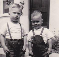 1950's little boys in suspenders