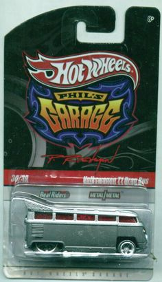 "HOT WHEELS  PHIL'S GARAGE ""VOLKSWAGEN T1 DRAG BUS, VW DRAG BUS, REAL RIDERS"