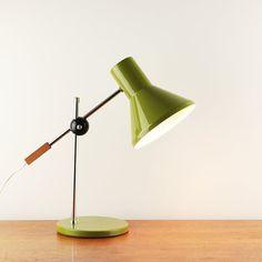Vintage tafellamp met houten teller gewicht - ca. jaren 1960 - toegeschreven aan Anvia