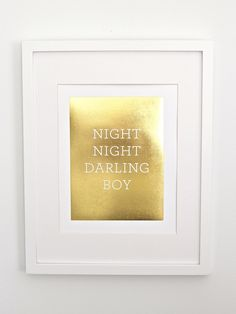 Darling Boy Print // Gold Foil