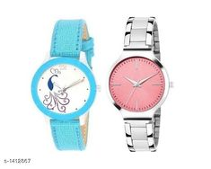 Watches Trendy  Women's  Watches  (Pack Of 2) Material: Silver & Leather Size: Free Size Type: Analog Description: It Has 2 Pieces Of Women's Watches  Country of Origin: India Sizes Available: Free Size   Catalog Rating: ★4 (521)  Catalog Name: Dailywear Women'Swatches Combo CatalogID_183032 C72-SC1087 Code: 072-1412867-885