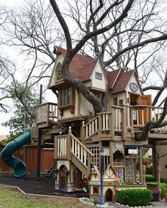 "3,638 Likes, 90 Comments - Decor For Kids | Home Decor (@decor_for_kids) on Instagram: ""Backyard goals?!! This amazing treehouse never gets old Credit to James Curvan"""