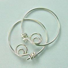 Tiny Sterling Hoop Earrings by artjeweldesigns on Etsy, $26.00