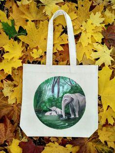 Paradis/ Рай/ Paradise/ Pangea Pangea #art #love #eco #bags #anastasiawalfs #elephants