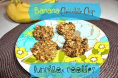 Oat flour banana choco chip cookies (okay, a bit dry)