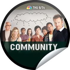 Community Fan Sticker for Community - Are you officially enrolled at Greendale Community College? That's 5 check-ins/visits to Community. Share this one proudly. It's from our friends at NBC. - April 12, 2012
