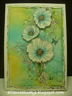 Paper - Stamps - Color: Flowers inspired by..