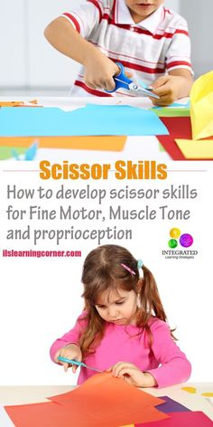 Scissor Skills: Trouble with Scissor Skills Shows Signs of Poor Fine Motor, Muscle Tone and Proprioception | http://ilslearningcorner.com