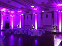 Purple accent lighting- www.erieuplighting.com 814-873-5100