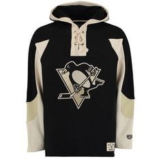 b25611844 Men s Pittsburgh Penguins Old Time Hockey Black Lacer Heavyweight Pullover  Hoodie