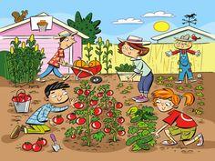 "Highlights Hidden Pictures Puzzles - Find 6 hidden words in ""Gardening fun. Hidden Words In Pictures, Highlights Hidden Pictures, Hidden Picture Puzzles, Word Pictures, Picture Comprehension, Word Challenge, Picture Composition, Picture Writing Prompts, Six Words"
