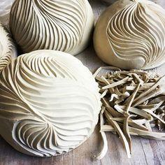 I love carving...but then I love the shards #carvedclay #leatherhardclay #porcelain #australianceramics #contemporaryceramics