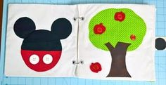 Quiet book Mickey and apple tree pages