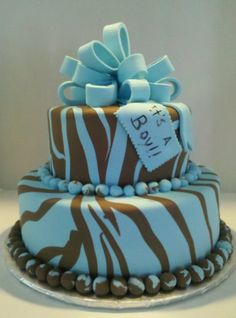 Love this idea for both boy and girl shower cake. Might do this for my baby shower.