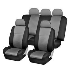 @Overstock.com - Trendy Elegance Car Seat Covers Full Set - These trendy car seat covers are made to fit the seats of most standard vehicles. This set features covers for two bucket seats, one rear bench set, one backrest, and five headrests. One bag of snaps and a set of mesh cloth extensions are included.  http://www.overstock.com/Home-Garden/Trendy-Elegance-Car-Seat-Covers-Full-Set/7318197/product.html?CID=214117 $41.85