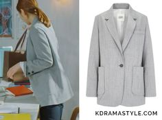 """Shin Se Kyungs gray jacket - Studio Tomboy Wool Tailored Jacket 9107212212. Shin Se Kyung 신세경 as Yoon So Ah 소아 in """"Bride of the Water God 2017"""" Episode 1."""
