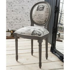 Maison Balloon Back Louis Style Dining Chair - Dark Grey – Allissias Attic & Vintage French Style