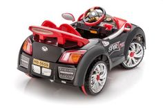 SPORTrax Bugatti Style Kid's Ride On Car, Battery Powered, Remote Control, w/FREE MP3 Player – Black
